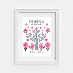 Baby Announcement Cross Stitch Pattern Baby by NikkiPattern
