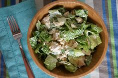 paleo chicken caesar salad | The Naked Avocado