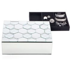 cute jewelry box.   Honeycomb Jewelry Box from Z Gallerie