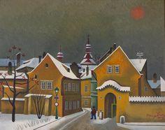Josef Matička 1893-1976  Motiv z Františku (Řásnovka), 1961