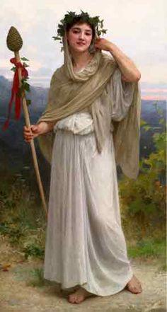Priestess of Bacchante, William-Adolphe Bouguereau
