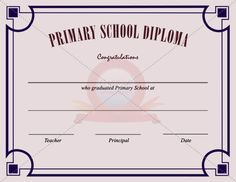 Best degree certificate templates for primary school graduation primary school certificate template yadclub Choice Image