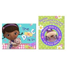 Disney Doc McStuffins~Invitation Cards &Thank You Cards~Birthday Party Supplies