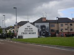 Derry, Ireland - 30 January 1972 in the Bogside area of Derry, Northern Ireland, in which 26 unarmed civil-rights protesters and bystanders were shot by soldiers of the British Army. Murals commemorate the event.