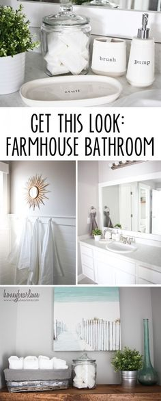 There's nothing as chic and beautiful as an all white, spa like bathroom! Love this inspiration for a farmhouse bathroom that would make any guest feel right at home!