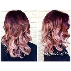 Image result for red-gold ombre hair dye