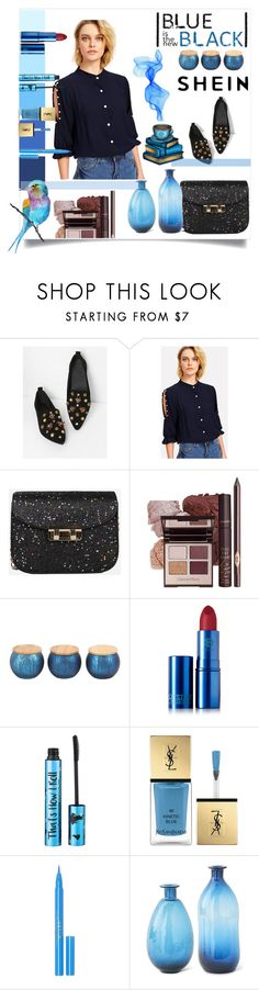 """""""shein contest"""" by mia-coluci ❤ liked on Polyvore featuring Lipstick Queen, Barry M, Yves Saint Laurent, Stila and K&K Interiors"""