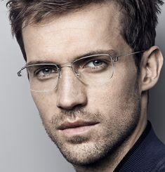 Andrew Cooper for Lindberg Eyewear Mens Frames, Mens Glasses Frames, Cool Glasses For Men, Rimless Glasses, Eye Glasses, Glasses Man, Andrew Cooper, 1950s Men, Glasses Trends
