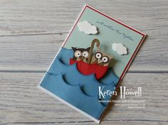Tuppence Coloured: Owl at Sea - rocking movement card - video tutorial in post