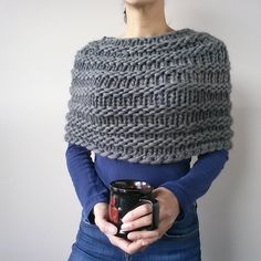 Ravelry: Project Gallery for Magnum Capelet #2 pattern by Karen Clements