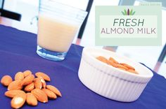 Nut milk is one of the easiest foods to make at home! There's very little reason to buy store-bought nut milk. You can adjust flavors, sweetness, and best of all, you can feel a sense of pride in having created your nut milk from scratch. http://www.liveto110.com/recipe-fresh-almond-milk/