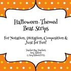 Halloween Beat Strips & Composition Cards for Rhythmic Notation & Composition