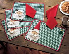 christmas placemat on sale at reasonable prices, buy Christmas Placemats ,Merry Christmas Santa Checked Plaid Placemats Mat Dinner Table Decoration Napkin is't included from mobile site on Aliexpress Now! Christmas Placemats, Christmas Sewing, Christmas Table Decorations, Holiday Tables, Fall Placemats, Merry Christmas Santa, Christmas Holidays, Christmas Ornaments, Christmas Projects