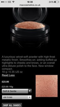 I used this mineralize skin finish highlighter from MAC in the shade 'soft and gentle'