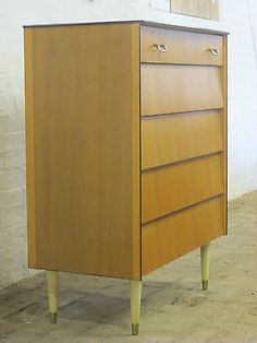 Vintage #retro 1960s/1970s avalon five #drawer #bedroom chest,  View more on the LINK: http://www.zeppy.io/product/gb/2/262645953803/