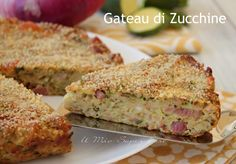 Gateau di zucchine gustoso e facile. Ricco di salumi e formaggi è uno sformato di zucchine morbido, con deliziosa crosticina dorata e un sapore accattivante Strudel, Quiches, Empanadas, Potato Appetizers, Summer Dishes, Potato Skins, Antipasto, Frittata, Summer Recipes