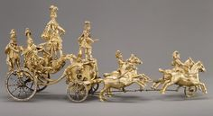 Automaton: Triumphal Chariot Drawn by Four Horses  England, 1760-1770  The Metropolitan Museum of Art