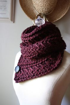 Ravelry: Bordeaux Chunky Cowl / Shoulder Warmer pattern by Brenda Lavell