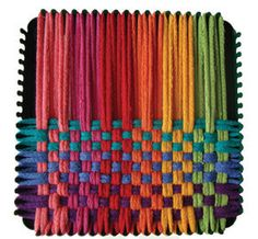 I would make dozens of potholders on this little loom for my Mom...