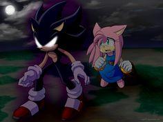 :Comm: Dark Sonic and Amy by Myly14.deviantart.com on @deviantART
