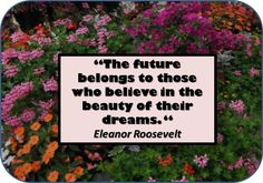 The Future Belongs to Those who BELIEVE in the beauty of their dreams. #quote
