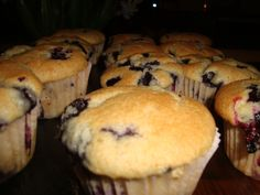 Grant's birthday Vegan Blueberry Muffins Recipe food.com added streusel from: http://cannella-vita.blogspot.com/2013/02/recipe-showdown-blueberry-muffins.html#