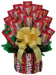 Skittles Candy Bouquet - Candy Bouquet