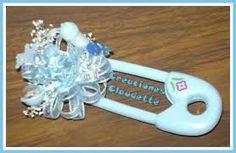 Resultado de imagen para corsage para invitadas baby shower de niño