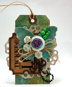 canvas butterfly tag: Idea from http://bellepapier.blogs.splitcoaststampers.com/