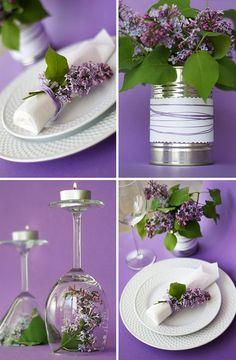 Lilas para vestir una mesa …