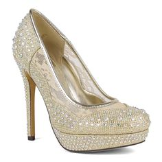 Color: Gold, Silver Style: Platform Dressy Pump Toe Shape: Round Heel Height: 4.5 inches Platform:  1 inches Lining: Manmade Upper: Synthetic Model: Dido-05