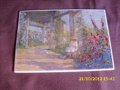 ORIGINALE Vilbo Card Mädchen im Garten G 6 Artist Anna Boch de.picclick.com