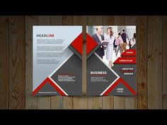 how to create two fold brochure photoshop tutorial print design