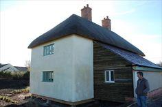 British straw bale house