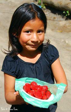 El Salvador girl near Volcano