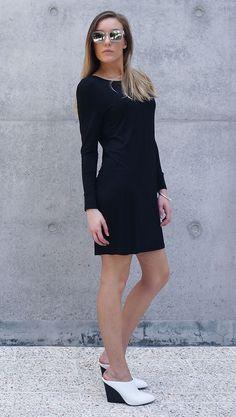 TGB Eco Bamboo Clothing - Black Europa Bamboo Short Dress
