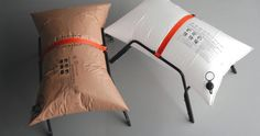 Malafor's blow-up style furniture made of Tyvek®