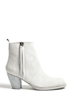 Grey Suede Finish Pistol Boots by Acne by Acne | Apprl - Social Shopping