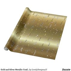 Gold and Silver Metallic Confetti and Streamers Streamers, Confetti, Wraps, Metallic, Parties, Gift Wrapping, Entertaining, Paper, Silver