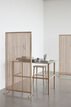 Use this beautiful partition in natural oak to divide your home office from your private space.