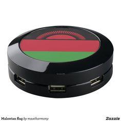 Malawian flag USB charging station