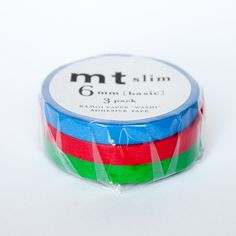 MT Set Of Three Thin Washi Tapes - Blue, Red and Green from Fox and Star