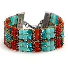 Peyote Bird Designs Chili Rose Bracelet at Maverick Western Wear