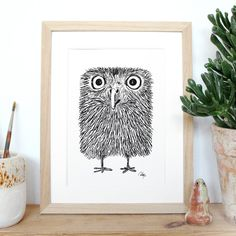 baby owl print by Anders Arhoj of Studio Arhoj