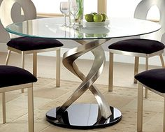 Furniture of America Catarina Round Glass Top Dining Tabl... https://smile.amazon.com/dp/B00TS63BQW/ref=cm_sw_r_pi_dp_x_DdVrybVFK6JZE
