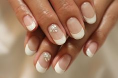 Lush Fab Glam: Style Me Pretty: Embellished French Manicure and Bridal Nail Art Designs.
