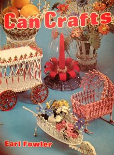 Vintage Can Craft Book Doll House Furniture Can Quilling Tin Crafting Vintage Book Quill Work Miniatures. $11.00, via Etsy.