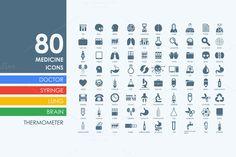 82 medicine icons by Palau on Creative Market