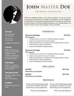 doc resume template free cv template 681 687 free cv template dot org download