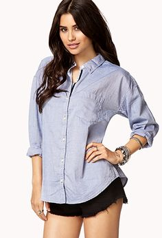 Essential Oxford Shirt | FOREVER 21 - 2058201883